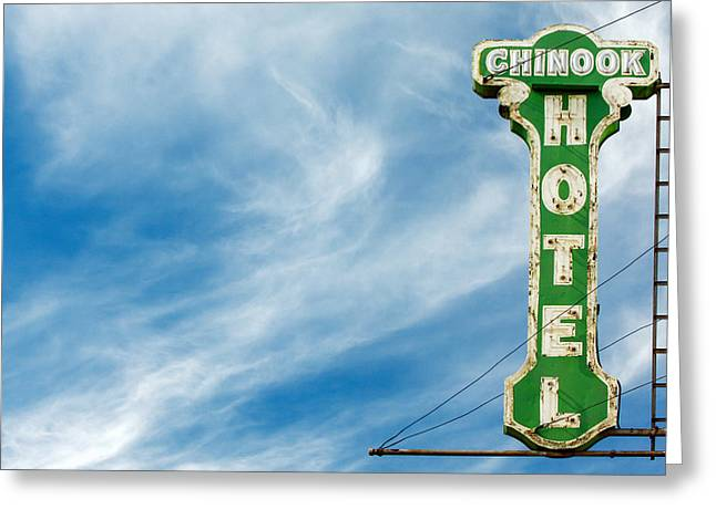 Chinook Hotel Greeting Card by Todd Klassy