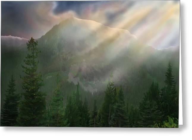 Chinook Vista Greeting Card by Robert Bewick