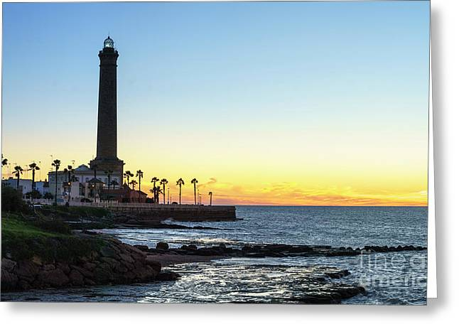 Chipiona Lighthouse Cadiz Spain Greeting Card