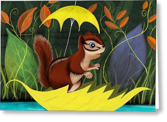 Chipmunk's Amazing Adventure Greeting Card