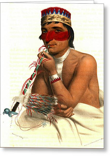 Chippeway Chief 1836 Greeting Card