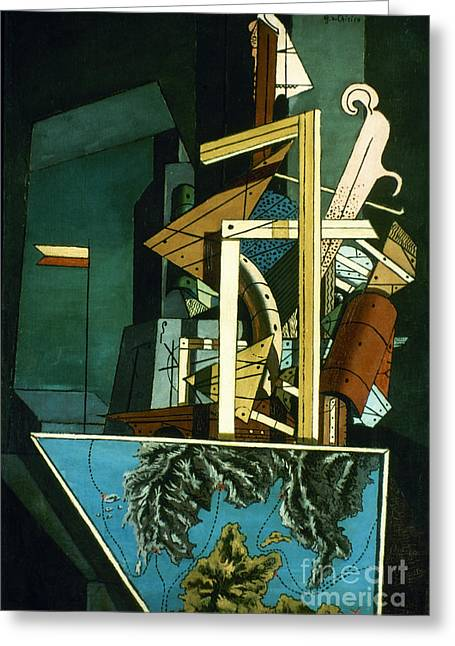 Chirico: Melancolie Greeting Card by Granger