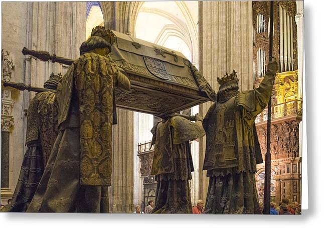 Chirstopher Columbus Burial Site - Cathedral Of Seville - Seville Spain Greeting Card