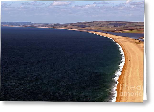 Chesill Beach Dorset Greeting Card