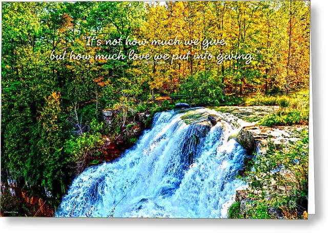 Chittenango Falls, Ny Mother Teresa  Greeting Card by Diane E Berry