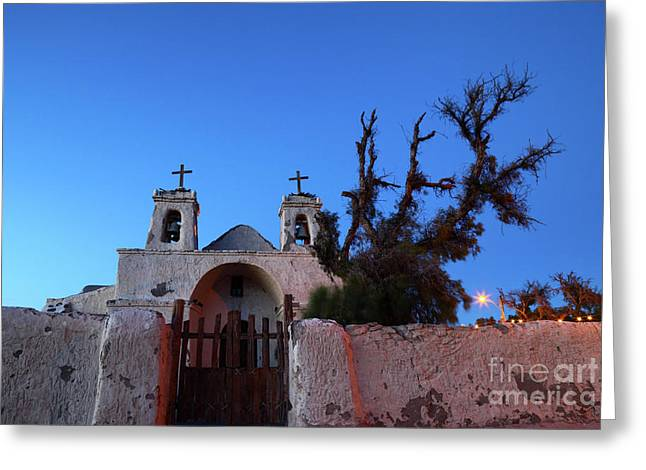 Chiu Chiu Church At Twilight Chile Greeting Card by James Brunker
