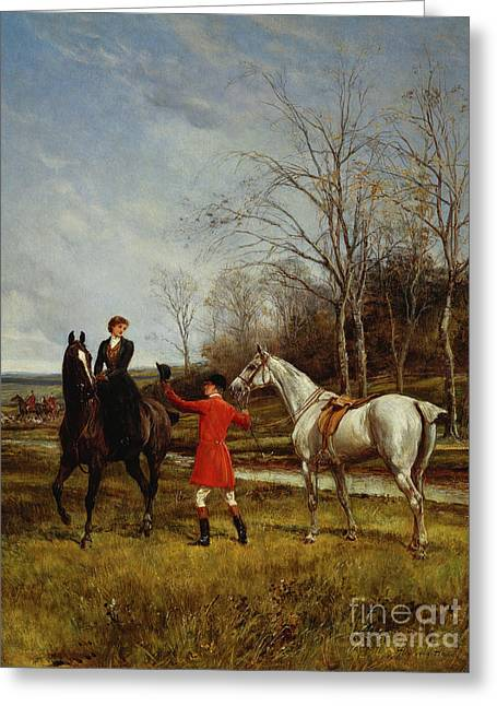 Chivalry Greeting Card by Heywood Hardy
