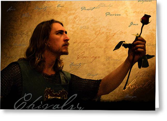 Chivalry Reborn Greeting Card by Christopher Gaston