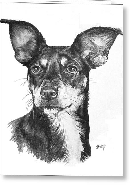 Chiweenie Greeting Card by Barbara Keith