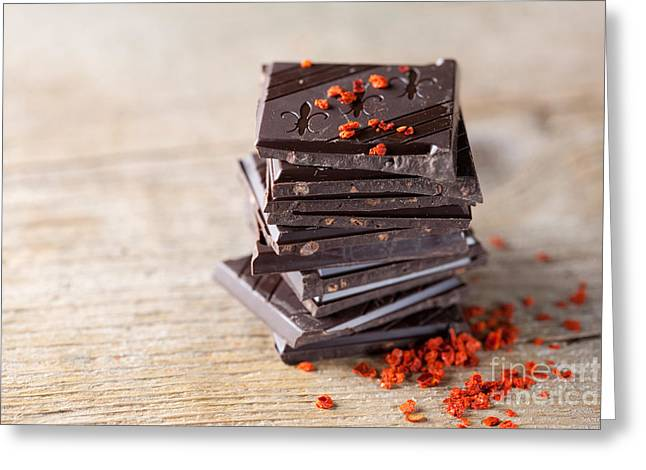 Chocolate And Chili Greeting Card by Nailia Schwarz