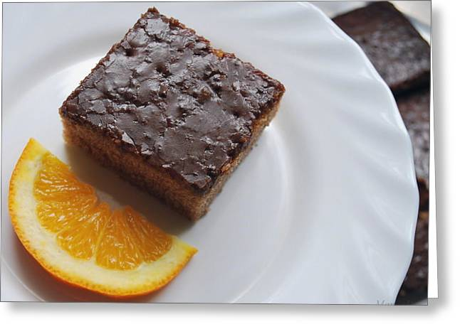 Chocolate And Orange Greeting Card by Marija Djedovic