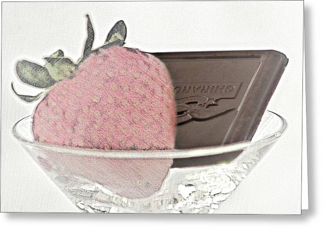 Chocolate And Strawberry Martini Greeting Card