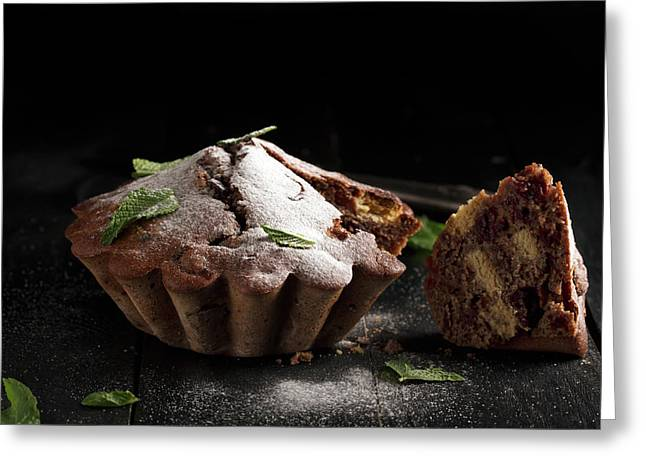 Chocolate Cake  Greeting Card by Vadim Goodwill