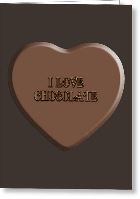 Chocolate Candy Heart  Greeting Card by Anne Kitzman