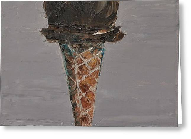 Chocolate Cone Greeting Card by Lindsay Frost