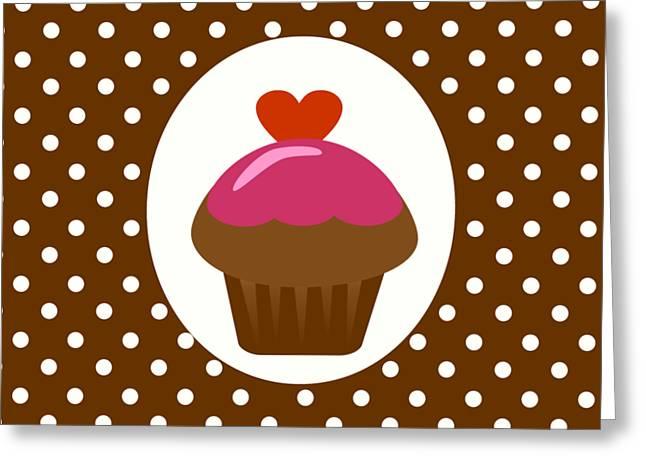 Chocolate Cupcake  Greeting Card by Kourai