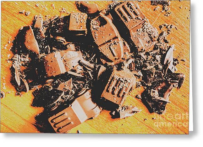 Chocolate Demolition Derby Greeting Card