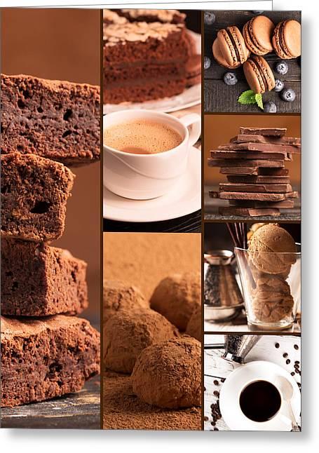 Chocolate Desserts 3 Greeting Card