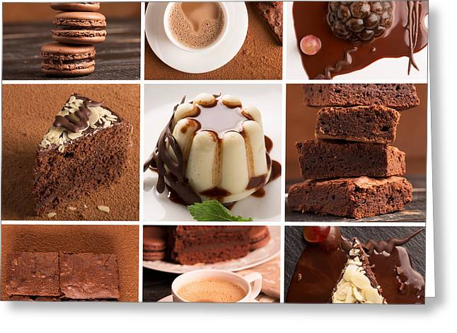 Chocolate Desserts And Sweets Greeting Card by Vadim Goodwill