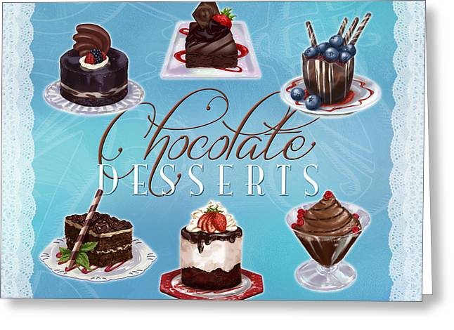 Chocolate Desserts Greeting Card