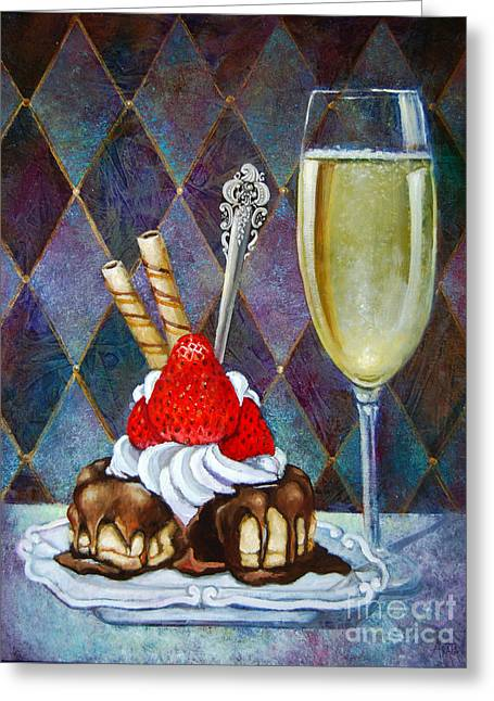 Chocolate Drenched Eclair  Greeting Card by Geraldine Arata