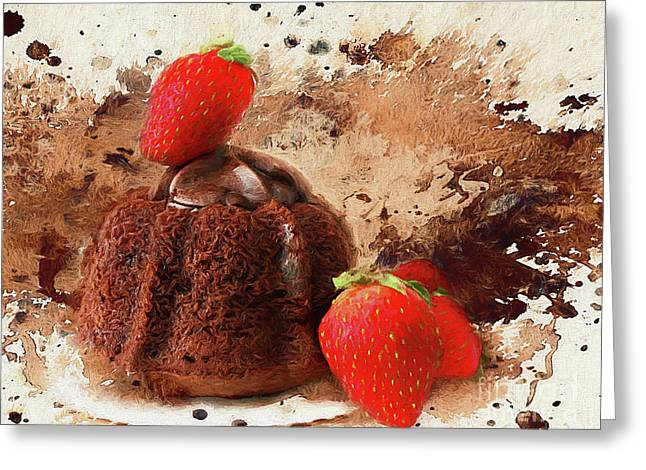 Chocolate Explosion Greeting Card by Darren Fisher