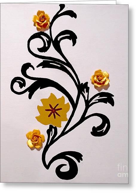 Chocolate Gold Greeting Card by Jilian Cramb - AMothersFineArt