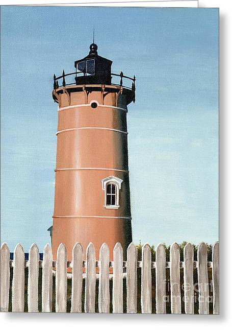 Chocolate Lighthouse Greeting Card by Mary Rogers