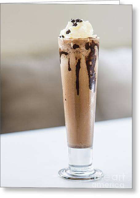 Chocolate Milk Shake With Whipped Cream  Greeting Card