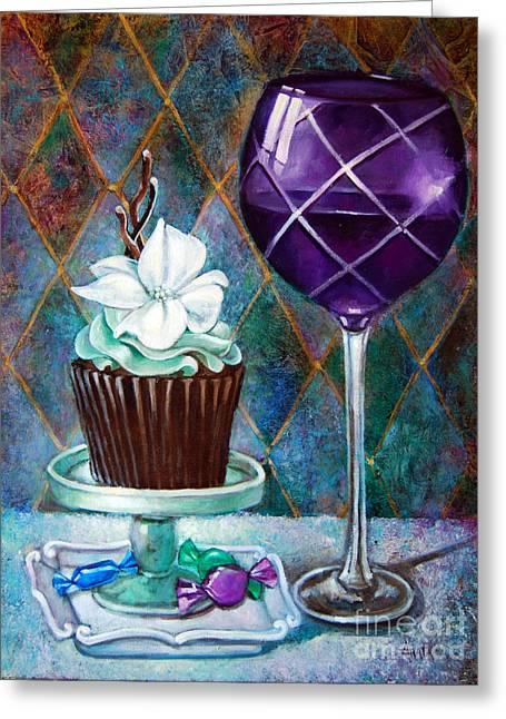 Chocolate Mint Cupcake Greeting Card by Geraldine Arata