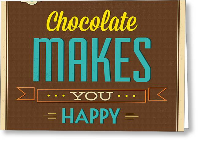 Chocolate Greeting Card by Naxart Studio