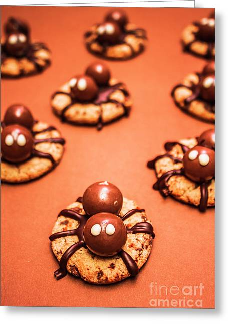 Chocolate Peanut Butter Spider Cookies Greeting Card by Jorgo Photography - Wall Art Gallery