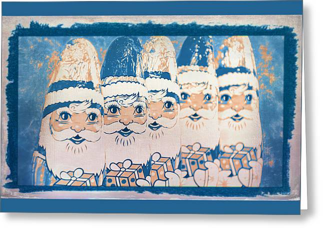 Greeting Card featuring the photograph Chocolate Santas by Bellesouth Studio