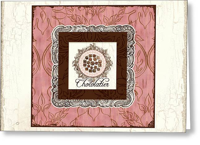 Chocolatier - Plate Of Handmade Chocolate Candies Greeting Card by Audrey Jeanne Roberts