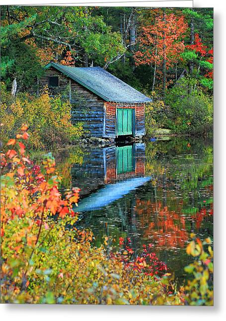 Chocorua Boathouse Greeting Card