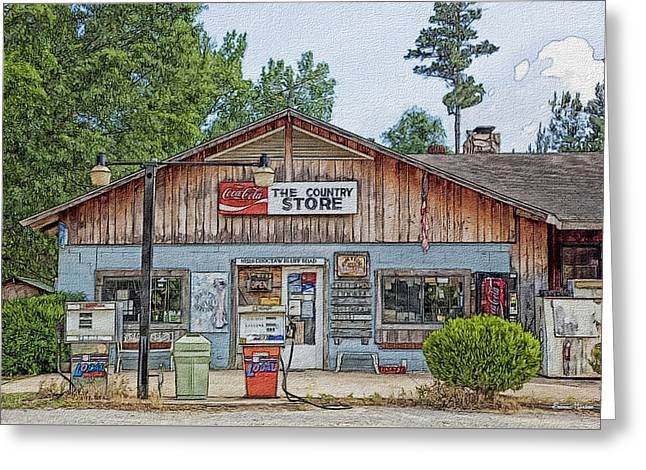 Choctaw Bluff Country Store Greeting Card by Ericamaxine Price