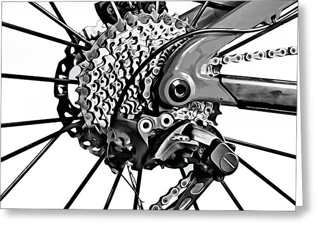 Greeting Card featuring the digital art Choice Transport 2 Bw by Wendy J St Christopher