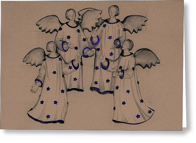 Choir Of Angels Greeting Card by Joy Lions
