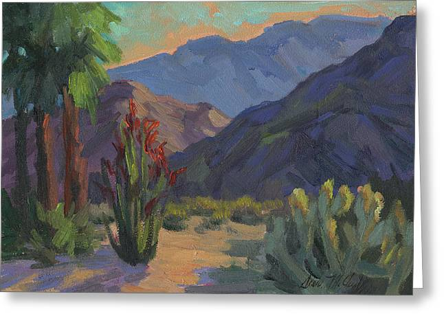 Cholla At Smoketree Ranch Greeting Card by Diane McClary