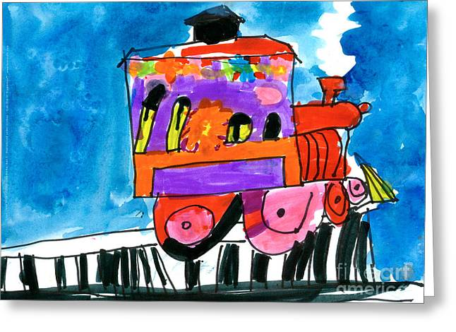 Choochoo Train Greeting Card