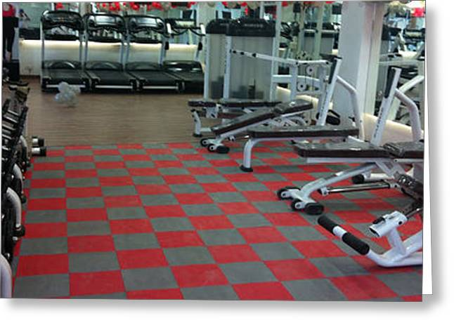 Choosing To Get The Benefits Of Silicone Gym Flooring Greeting Card