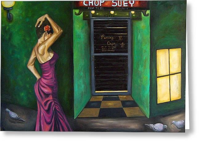 Chop Suey Greeting Card by Leah Saulnier The Painting Maniac