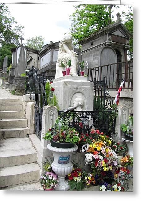Chopin Grave Paris Greeting Card