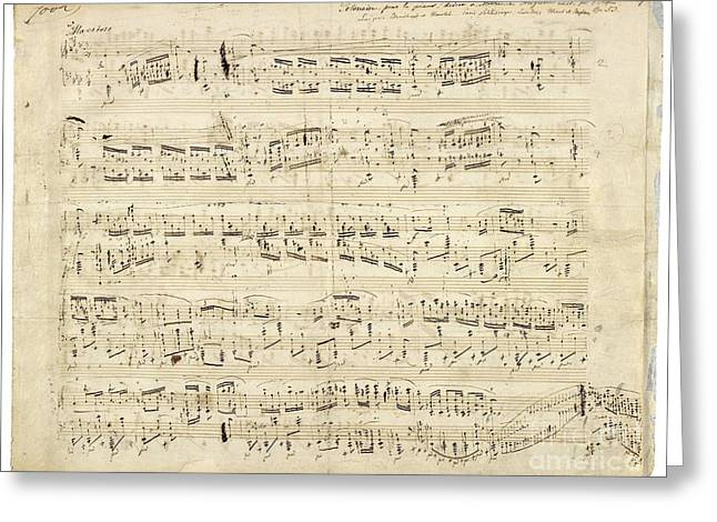 Chopin Music Notes Greeting Card by Celestial Images