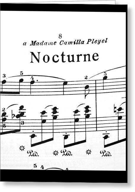 Chopin Nocturne Part 2 Greeting Card