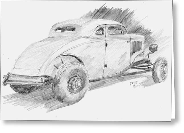 Chopped Coupe Sketch Greeting Card