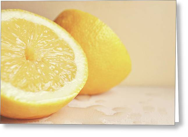 Chopped Lemon Greeting Card