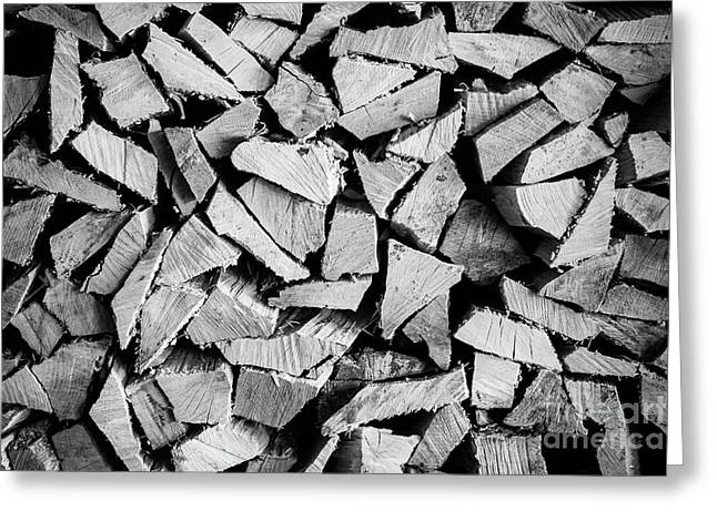 Chopped Wood Greeting Card by Colleen Kammerer