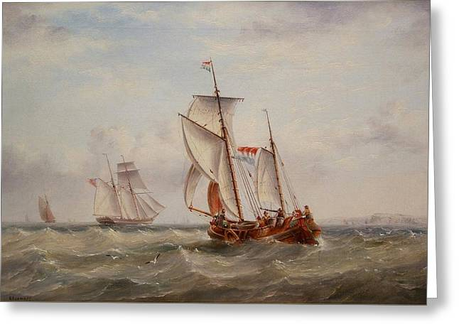 Choppy Waters Greeting Card by Henry Redmore