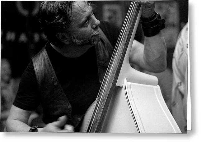 Chops On Bass Greeting Card by Chad Schaefer